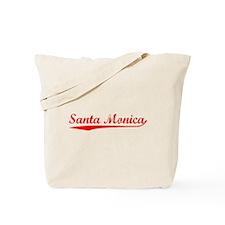 Vintage Santa Monica (Red) Tote Bag