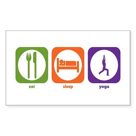 Eat Sleep Yoga Rectangle Sticker