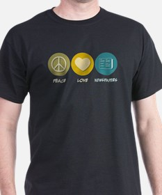 Peace Love Newspapers T-Shirt