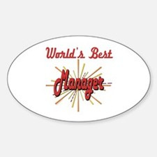 Starburst Manager Oval Decal