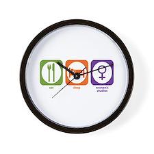Eat Sleep Women's Studies Wall Clock