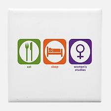 Eat Sleep Women's Studies Tile Coaster
