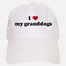 I Love my granddogs Baseball Baseball Cap