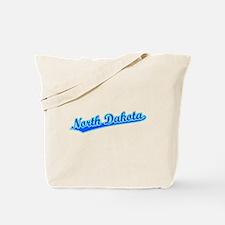 Retro North Dakota (Blue) Tote Bag