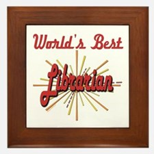 Starburst Librarian Framed Tile