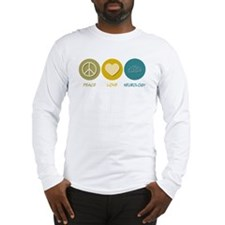 Peace Love Neurology Long Sleeve T-Shirt