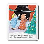 GPS Santa Sleigh Mousepad