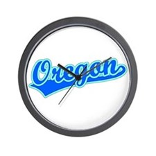 Retro Oregon (Blue) Wall Clock