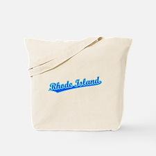 Retro Rhode Island (Blue) Tote Bag