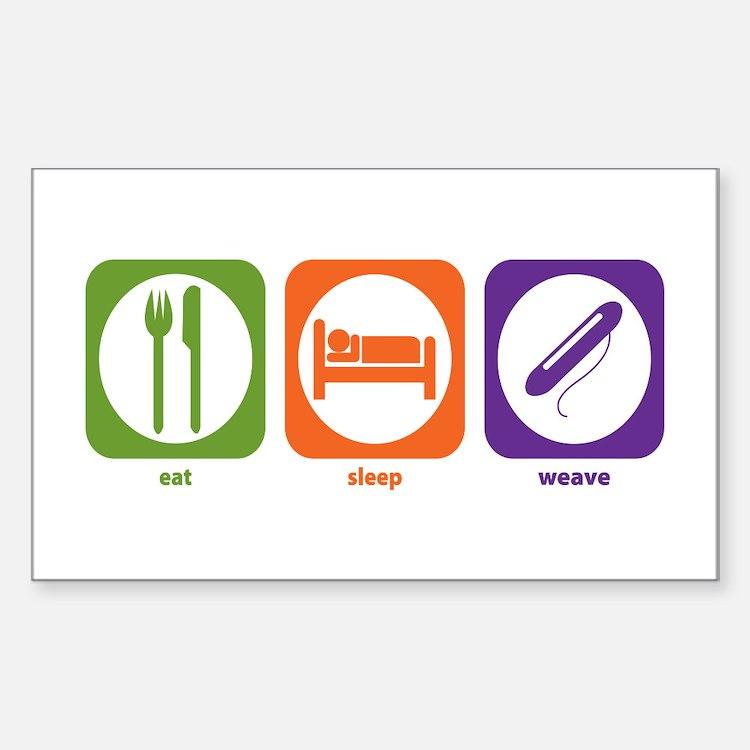 Eat Sleep Weave Rectangle Decal