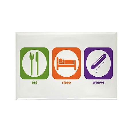 Eat Sleep Weave Rectangle Magnet (100 pack)