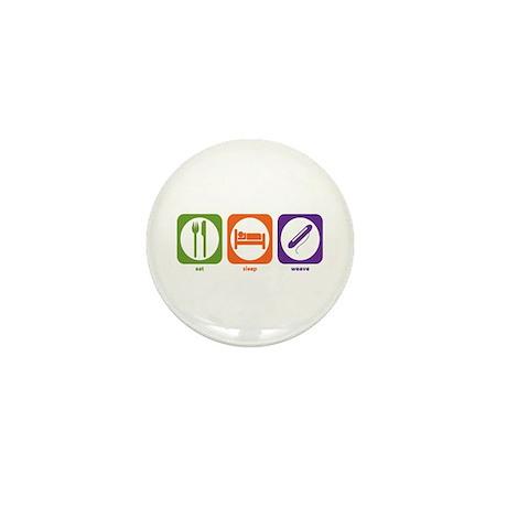 Eat Sleep Weave Mini Button (10 pack)