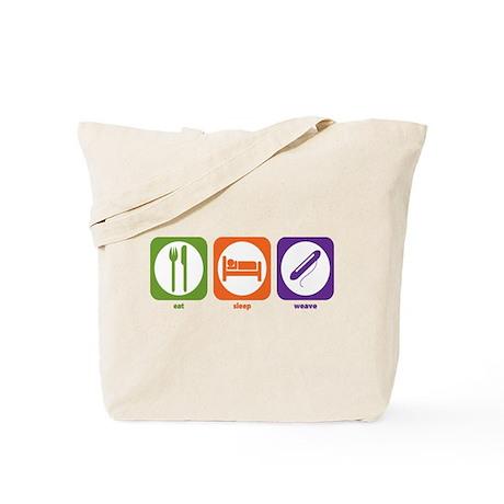 Eat Sleep Weave Tote Bag