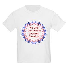 """Undefeatable USA"" Kids Light T-Shirt"