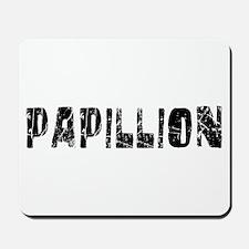 Papillion Faded (Black) Mousepad