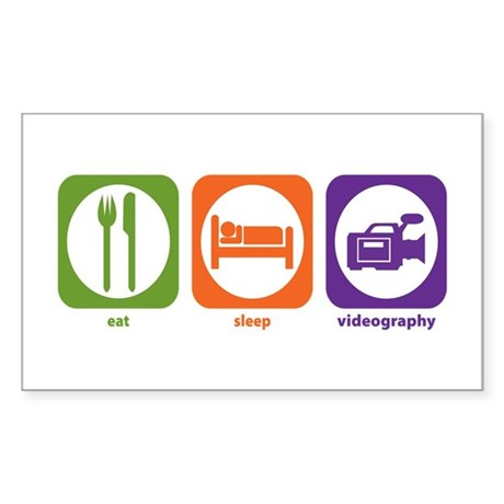 Eat Sleep Videography Rectangle Sticker