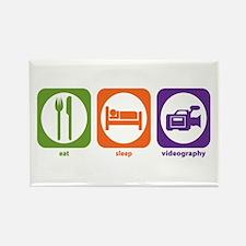 Eat Sleep Videography Rectangle Magnet