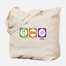 Eat Sleep Video Editing Tote Bag