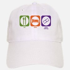 Eat Sleep Video Editing Baseball Baseball Cap