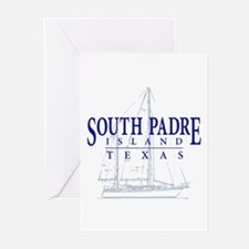 South Padre Sailboat - Greeting Cards (Pk of 20)