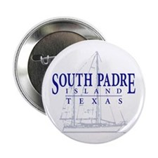 "South Padre Sailboat - 2.25"" Button"