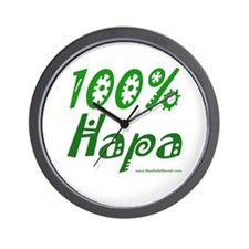 100% Hapa Wall Clock