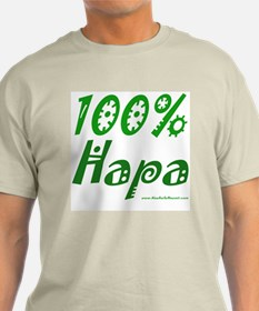 100% Hapa Ash Grey T-Shirt