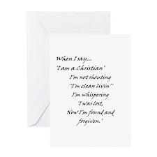 Found N Forgiven Greeting Card