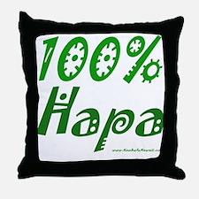 100% Hapa Throw Pillow
