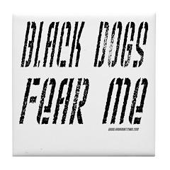 Black Dogs Tile Coaster