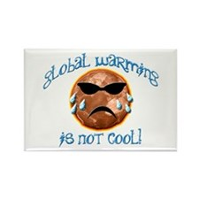Global Warming Is Not Cool! Rectangle Magnet