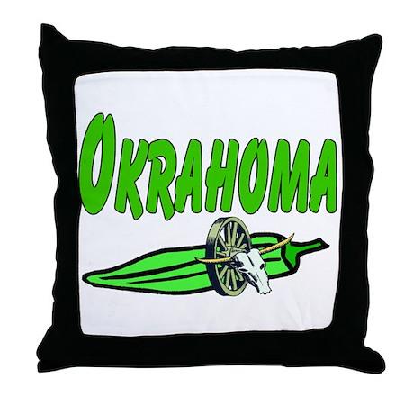Okrahoma Throw Pillow