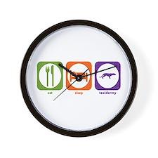 Eat Sleep Taxidermy Wall Clock