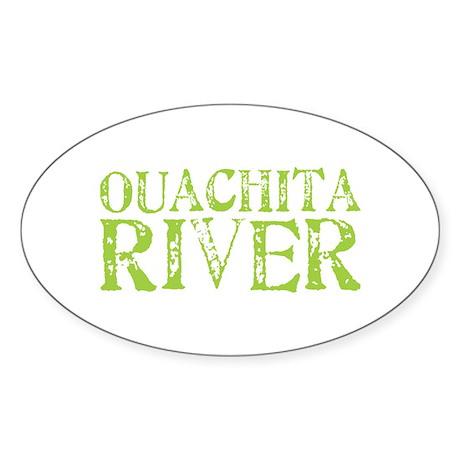 Ouachita River Oval Sticker