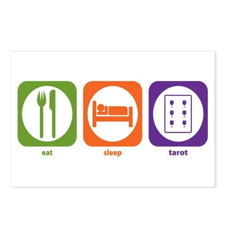 Eat Sleep Tarot Postcards (Package of 8)