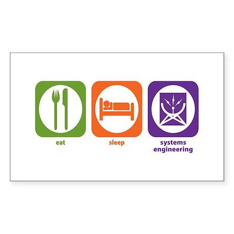 Eat Sleep Systems Engineering Rectangle Sticker