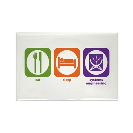 Eat Sleep Systems Engineering Rectangle Magnet