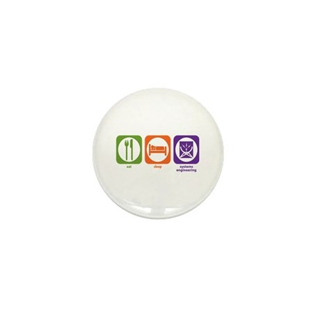 Eat Sleep Systems Engineering Mini Button (100 pac