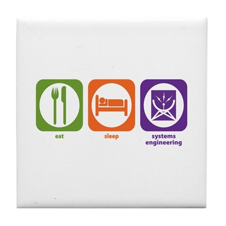 Eat Sleep Systems Engineering Tile Coaster
