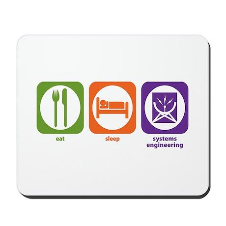 Eat Sleep Systems Engineering Mousepad