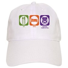 Eat Sleep Systems Engineering Baseball Cap