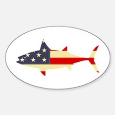 """Patriotic Tunoid"" Oval Decal"