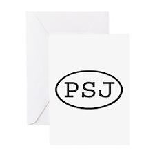 PSJ Oval Greeting Card