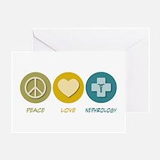 Peace Love Nephrology Greeting Card