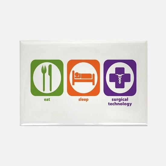 Eat Sleep Surgical Technology Rectangle Magnet