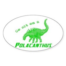 Green Polacanthus Oval Decal