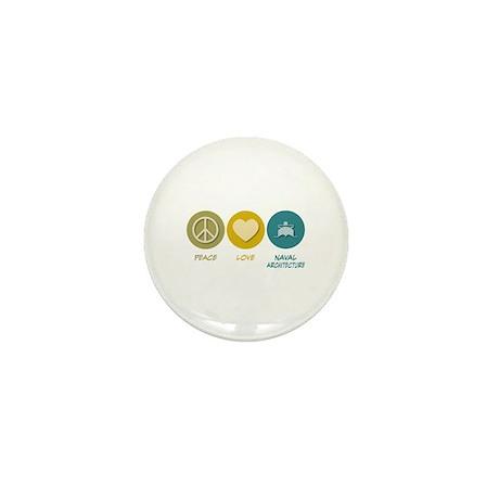 Peace Love Naval Architecture Mini Button (100 pac