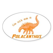 Orange Polacanthus Oval Decal