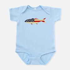 """""""Patriotic Bluefish"""" Infant Bodysuit"""