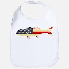 """""""Patriotic Bluefish"""" Bib"""